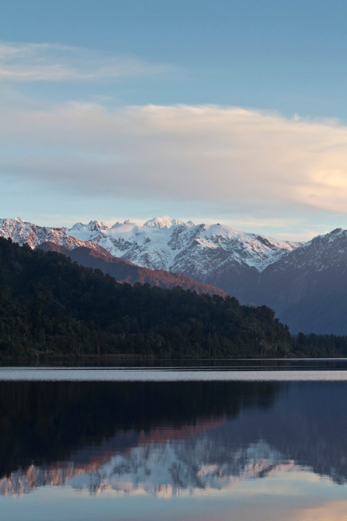 Mt Cook from Lake Mapourika