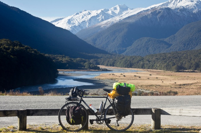 Looking back towards The Haast Pass