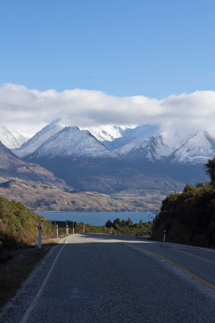 View from the neck looking back towards Lake Wanaka