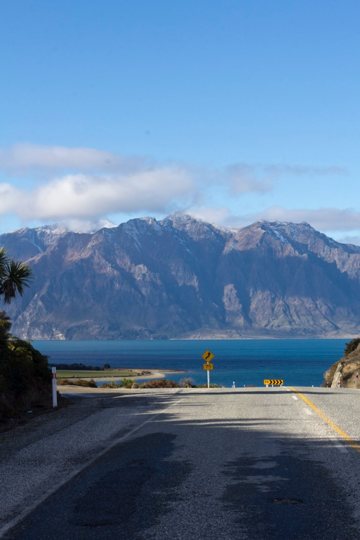 View from the neck looking forward towards Lake Hawea