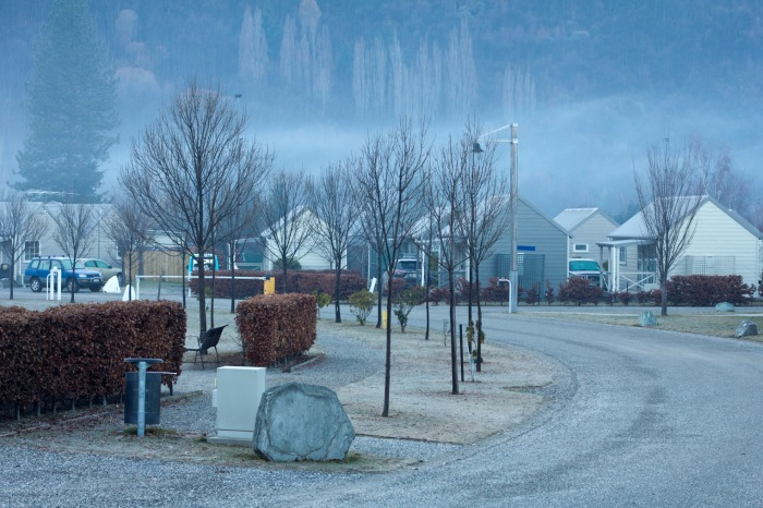 Arriving in Arrowtown on a misty evening