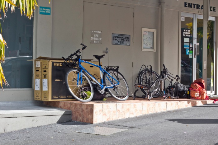 Dismantling bikes in Auckland