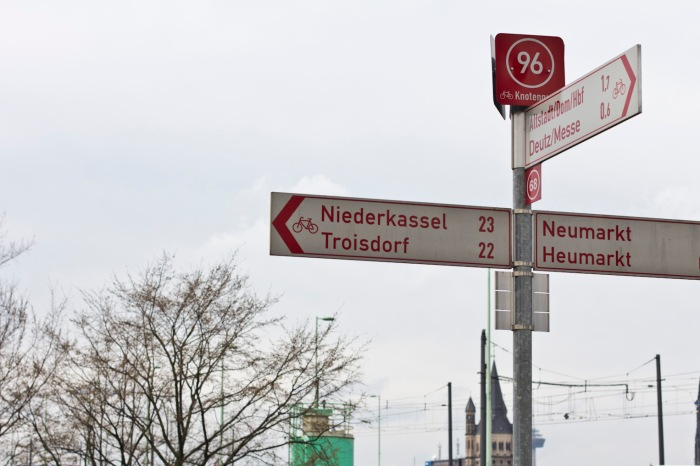 22 km to Niederkassel and then another 18 km to Bonn.