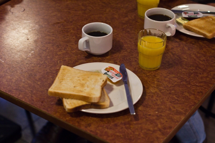 First breakfast in Issac's Hostel Dublin. Not quite the Irish breakfast we were hopinh for!!!